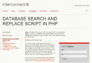 DATABASE SEARCH AND REPLACE SCRIPT IN PHP